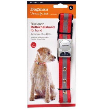 10260200 10260300 dogman professional halsband orange rod blinkande reflex wpp1587205569141