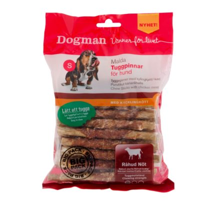 10310359 dogman malda tuggpinnar med kyckling 30pack 12.5cm 360gr