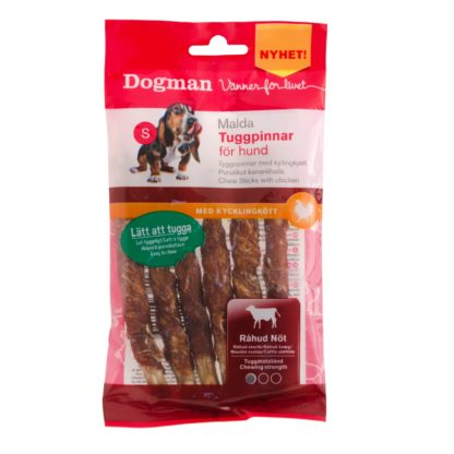 10310650 dogman malda tuggpinnar kyckling 6 pack 12.5cm 72gr