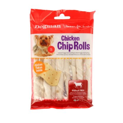 10320210 dogman chicken chip rolls 10pack 12.5cm 80gr