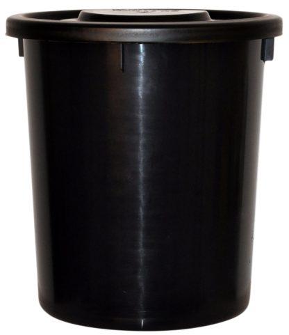 10392132 fodertunna med lock svart