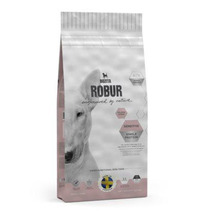 10465744 robur sensitive single protein salmon rice 12.5kg