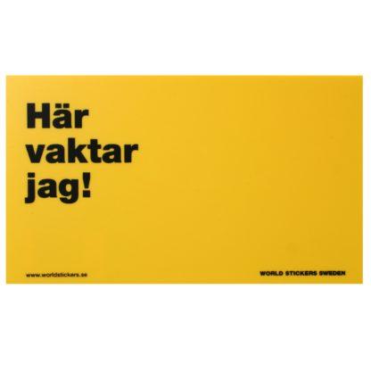 122826 world stickers sweden har vaktar jag skylt gul 17x10cm 25gr wpp1587461782667
