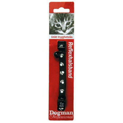 15999 dogman katthalsband reflextassar pingla 1x20 30cm blandade farger