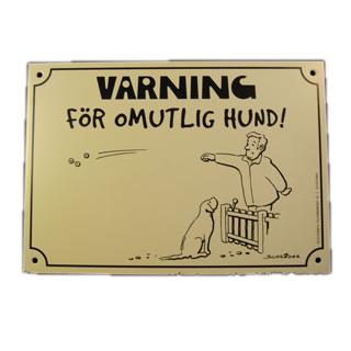 1811403 skylt varning for omutlig hund gra 14x20cm wpp1587468586516