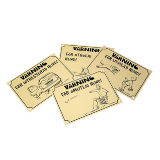 1811404 skylt varning for intresserad hund gra 14x20cm wpp1587468890911
