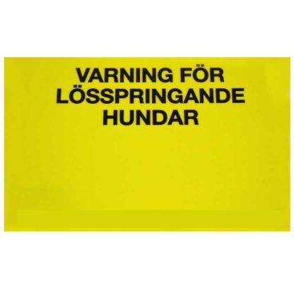 23750142 limex skylt plast gul varning losspringande hundar 21x15cm 80gr wpp1587548998453