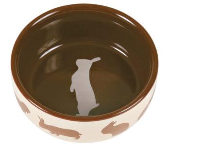 4260733 keramikskal staende kanin 250ml 10cm brun