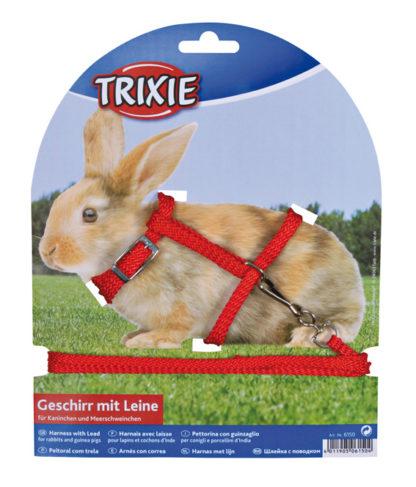 426150 sele koppel kanin marsvin nylon osorterade farger