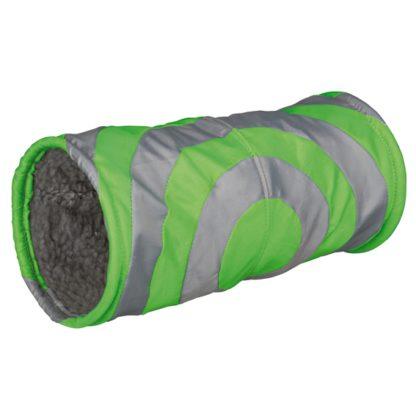 426284 trixie gnagartunnel nylon fleece 15x35cm gron gra wpp1588765923773