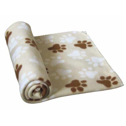960876 nobby fleecefilt beige med tassar 100x150cm wpp1593420758117