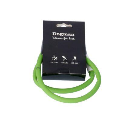10260606 dogman led ring silikon gron 65cm