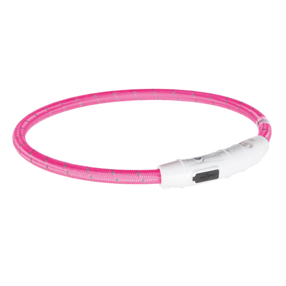 Trixie Flash Light Ring Rosa L-XL 0,7x65cm