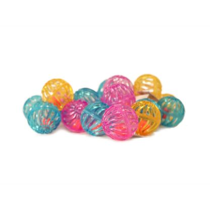 10333021 dogman gallerboll plast blandade farger 4cm
