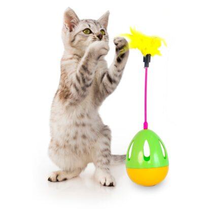 10331312 dogman aktivitetsleksak katt agg med fjader flerfargad wpp1607509432205
