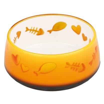 4224420 trixie lovely cat plastskal 0.3l 13cm orange wpp1613992676353