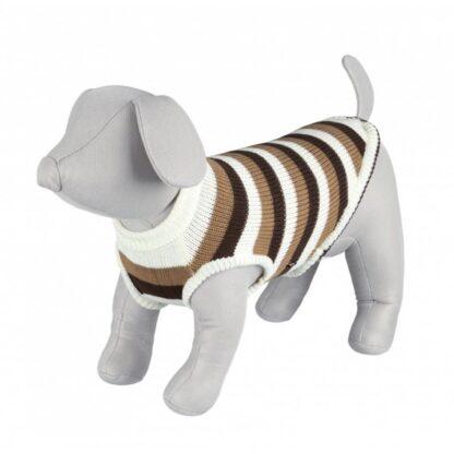 trixie hamilton pullover hundtroja brun vit randig wpp1612865686442