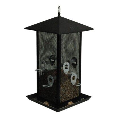9160610 natural viltfagelmatare foderautomat stor fyrkantig svart